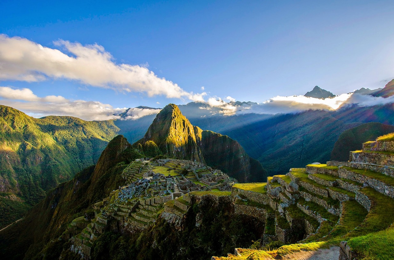 The sunset over Machu Picchu